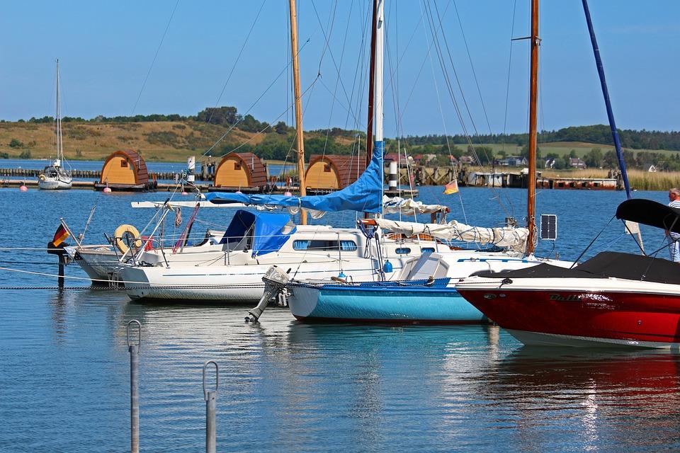 Sailing Boats, Houseboat, Gager, Rügen Island, Nature