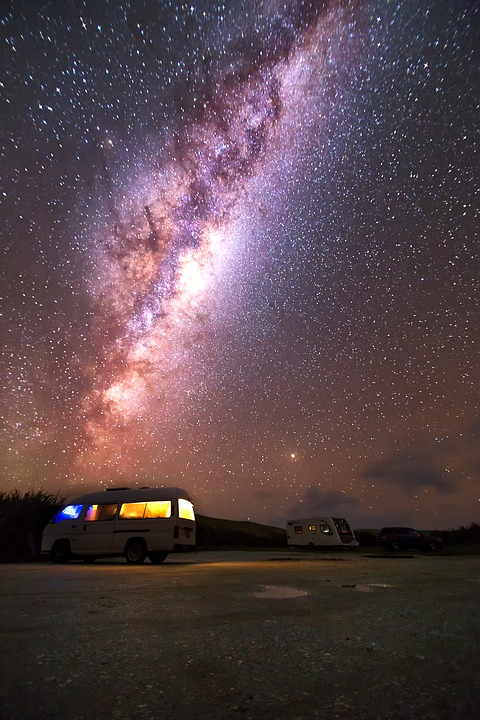 Milky Way, Cosmos, Sky, New Zealand, Stars, Galaxy
