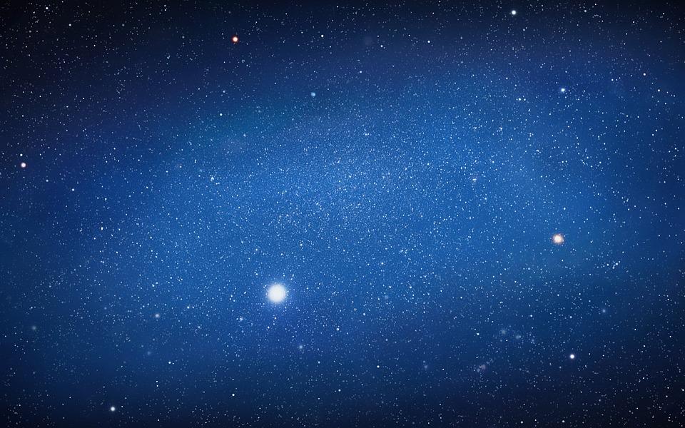 Sky, Landscape, Night, Galaxy, Stars