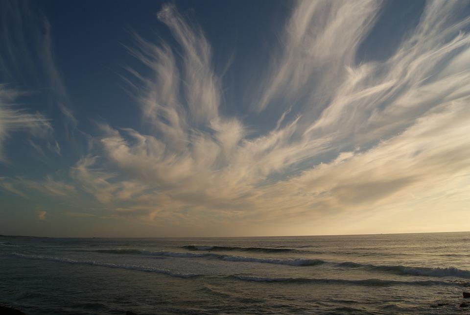 Sky, Clouds, Sunset, Beach, Galicia, Landscape