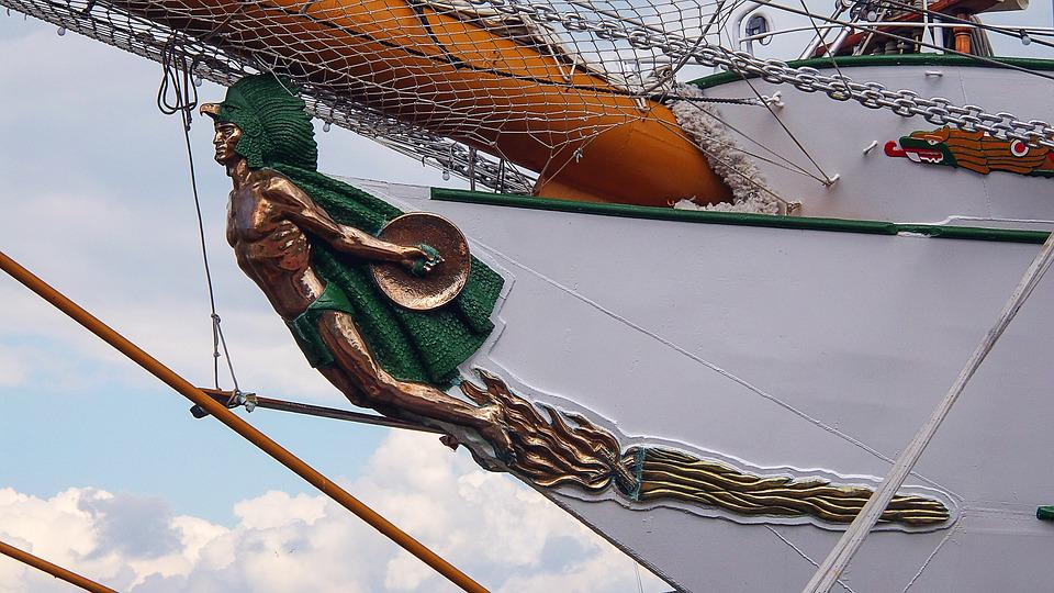 Ship, Sailing Vessel, Galionsfigur