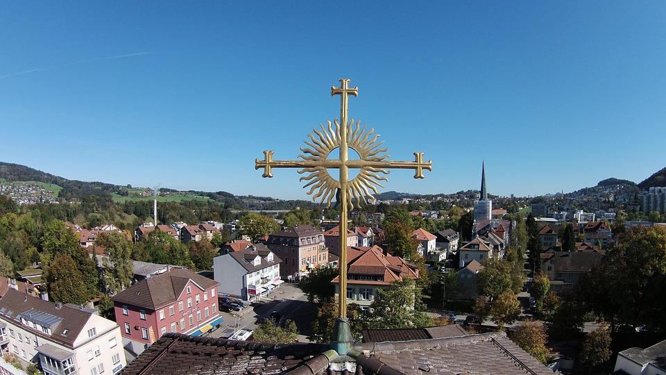 Cross, Church, St, Gallen-bruggen, Christianity, Faith