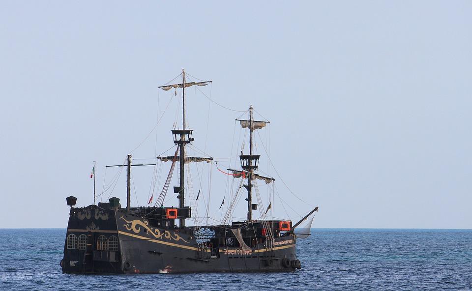 Galleon, Pirates, Carribean, Ship, Sea, Old, Boat