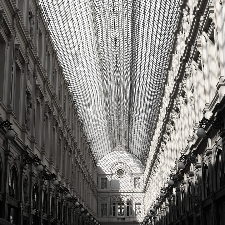 Brussels, Gallery, Black And White