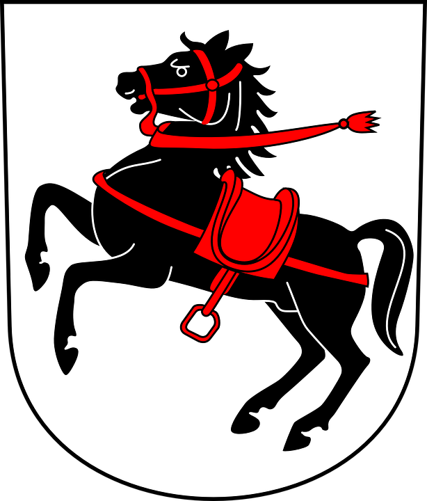 Horse, Galloping, Saddle, Red, Coat, Arms