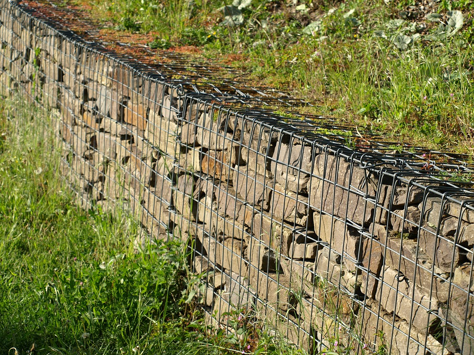 Gambione, Wall, Wire, Stone Wall