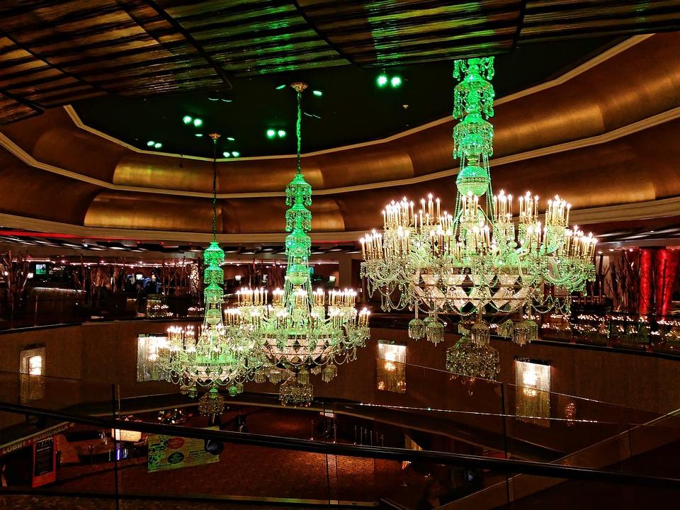 Chandelier, Taj Mahal, Atlantic City, Casino, Gambling