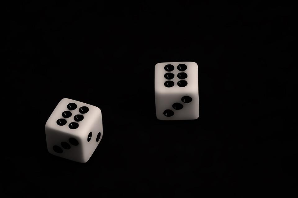 Dice, Gambling, Black, Chance, Risk, Casino, Gamble