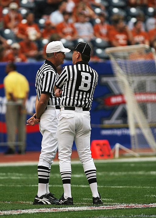 Football Officials, Referees, American Football, Game