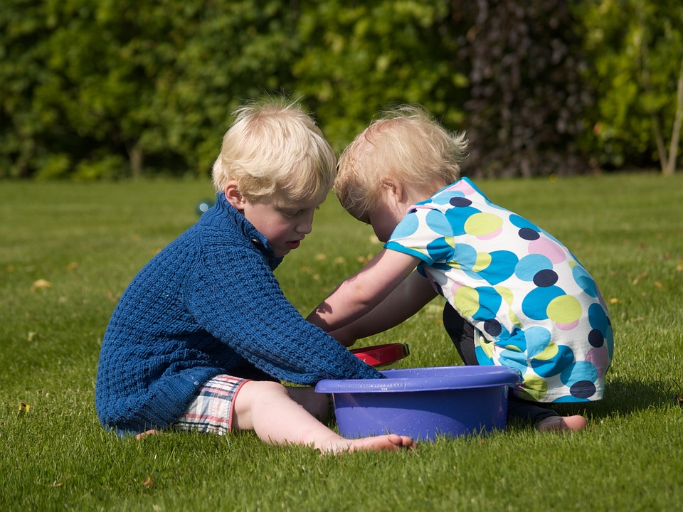 Together, Play, Game, Nature, Water, Toys, Brother