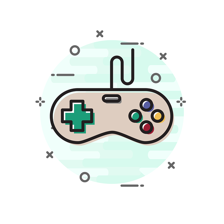 Joystick, Icon, Game, Sign, Flat, Symbol, Button, Video