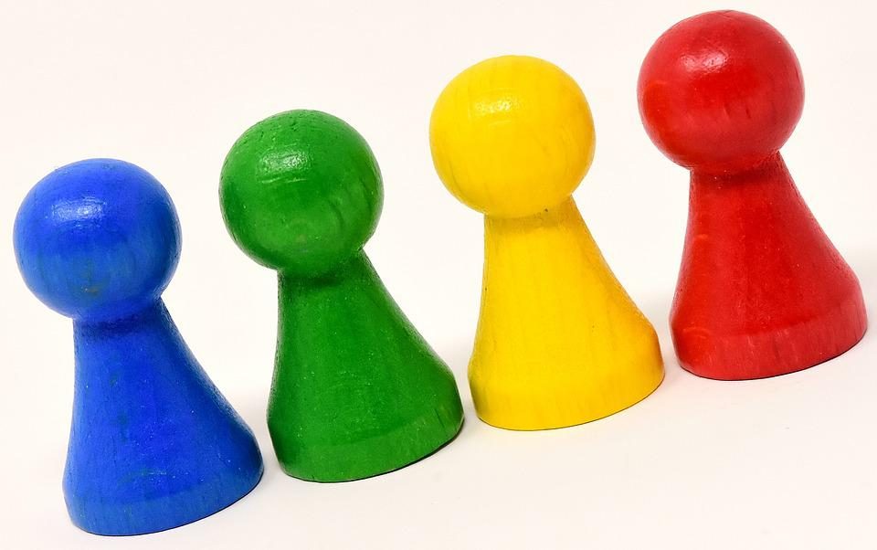 Game Characters, Colorful, Wood, Play Stone, Color