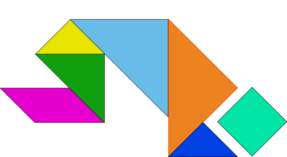 Shapes, Game, Chinese, Puzzle, Tangram, Geometric