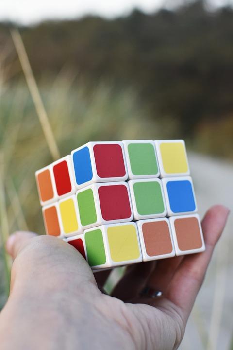 Rubik's Cube, Game, Brain Exercise, Solving, Hand