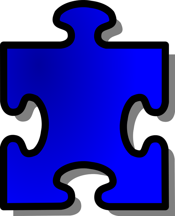 Jigsaw, Puzzle, Shape, Piece, Game, Blue, Join, Connect