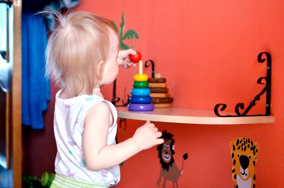 Baby, Plays, Pyramid, Game, Kid, Games, Childhood