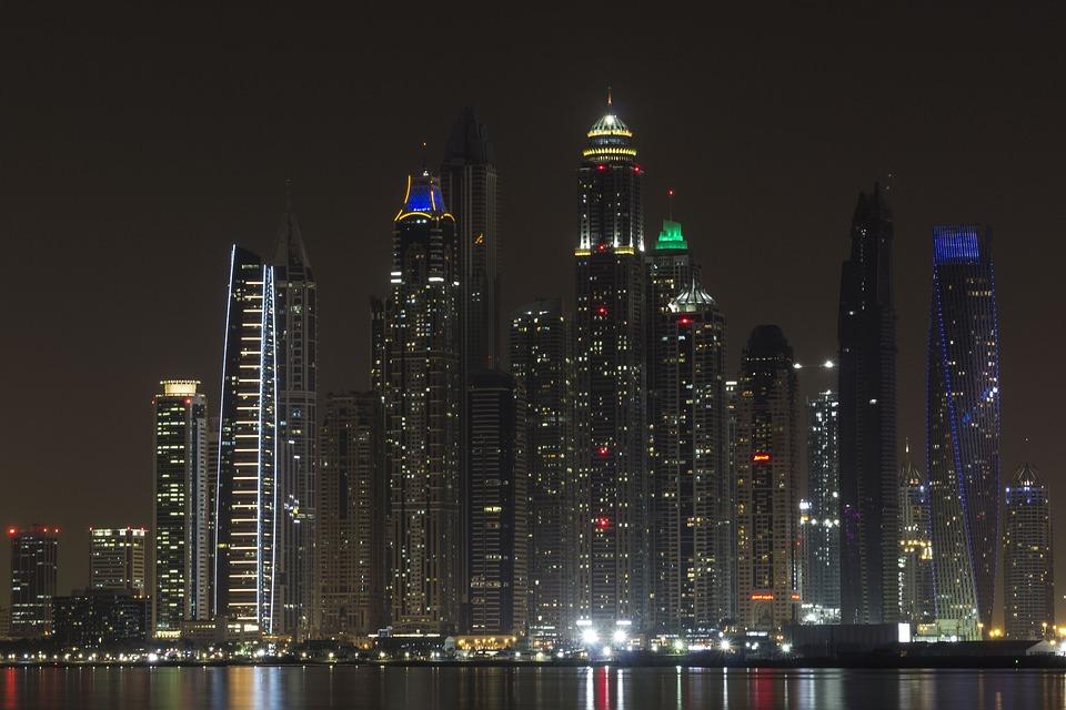 Dubai, Night, Skyscraper, Skyscrapers, Game, Sky