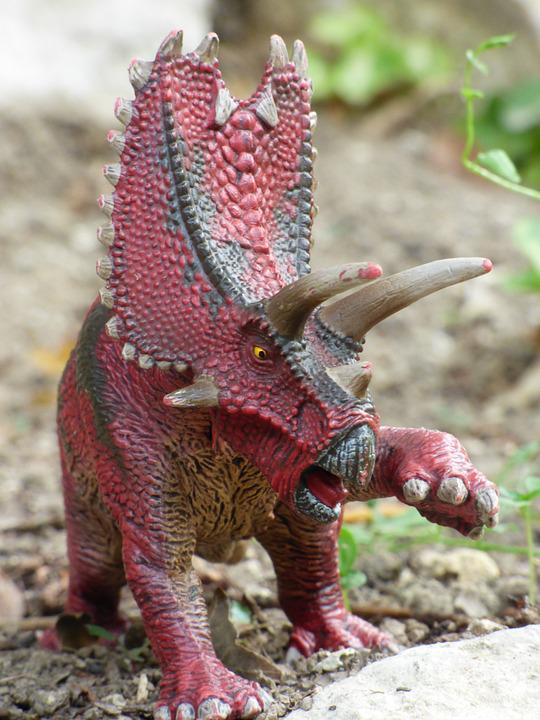 Pentaceratops, Dinosaur, Prehistory, Toy, Game