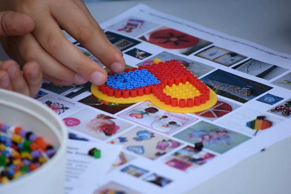 Heart, Ikea, Pyssla, Games, Children, Colors, Fun