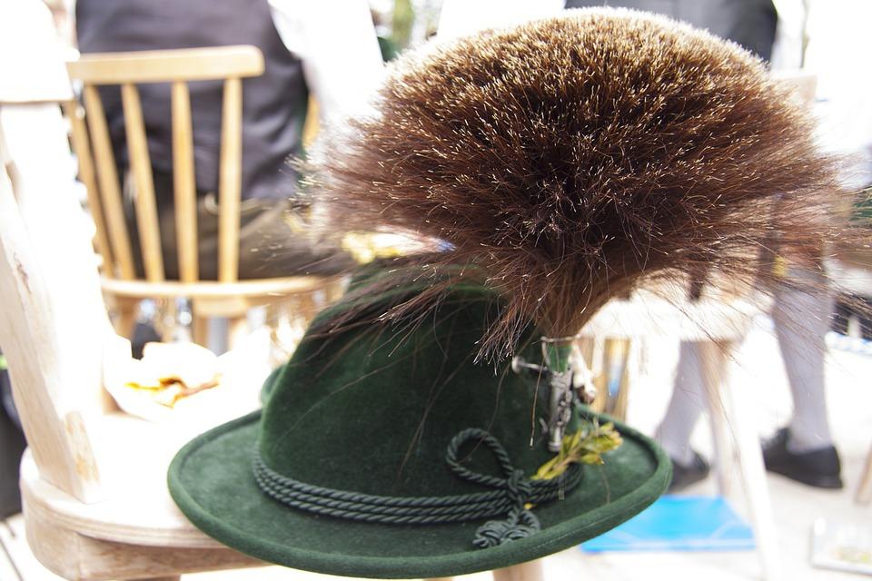 Gamsbart, Gaemsbart, Costume, Hat Decoration, Filed