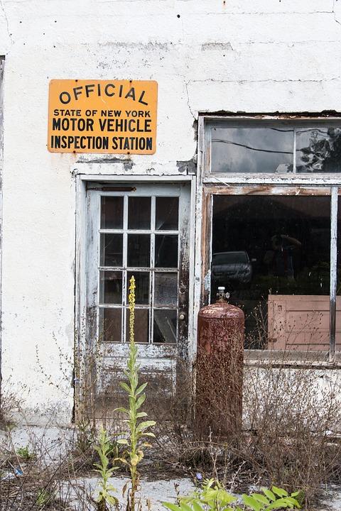 Abandoned, Garage, Door