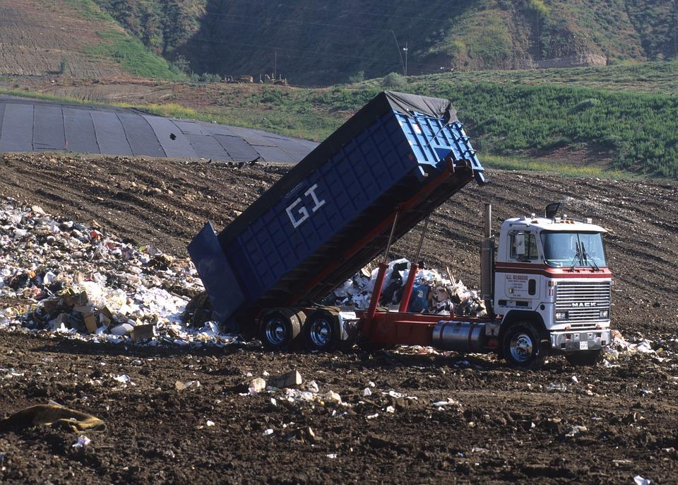 Dump Truck, Landfill, Disposal, Garbage Truck