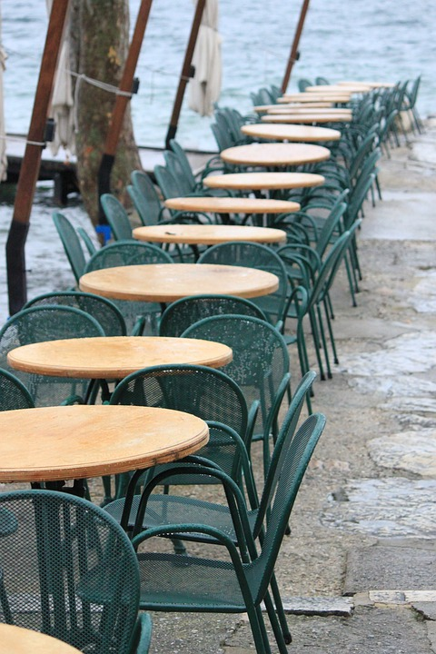 Restaurant, Dining Tables, Chairs, Garda, Port, Italy