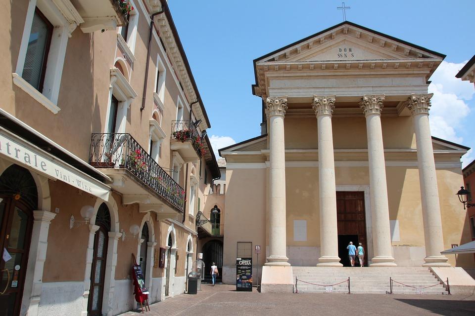 Dom, Bardolino, Italy, Garda, Architecture, Old