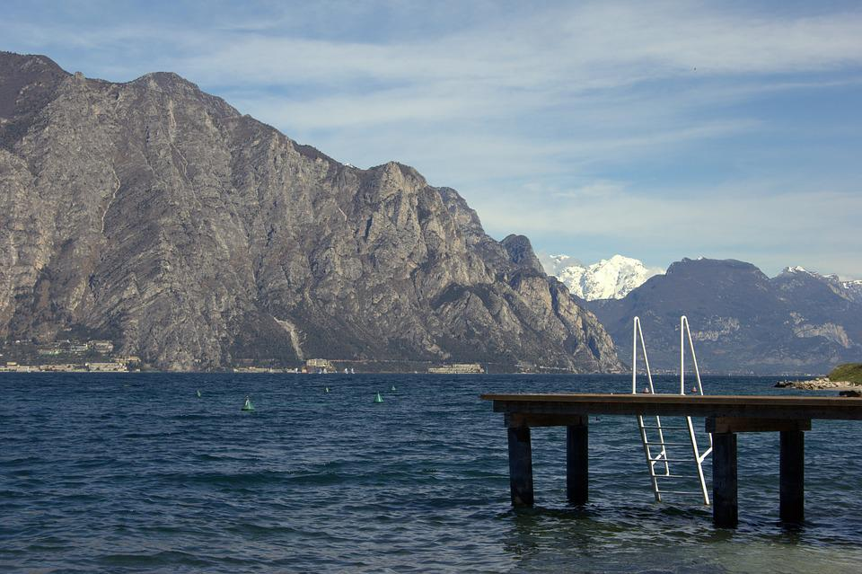 Garda, Italy, Water, Swim, Lake, Vacations, Lombardy