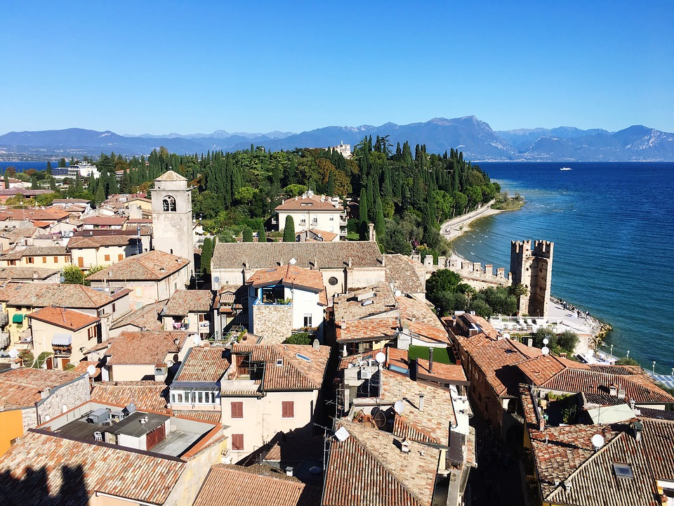 Sirmione, Headland, Garda Lake, Italy, Lake Garda