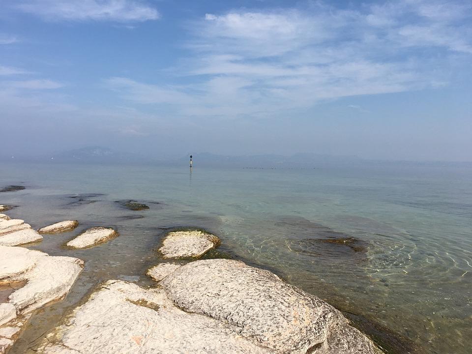 Sirmione, Terme, Lake, Garda, Sky