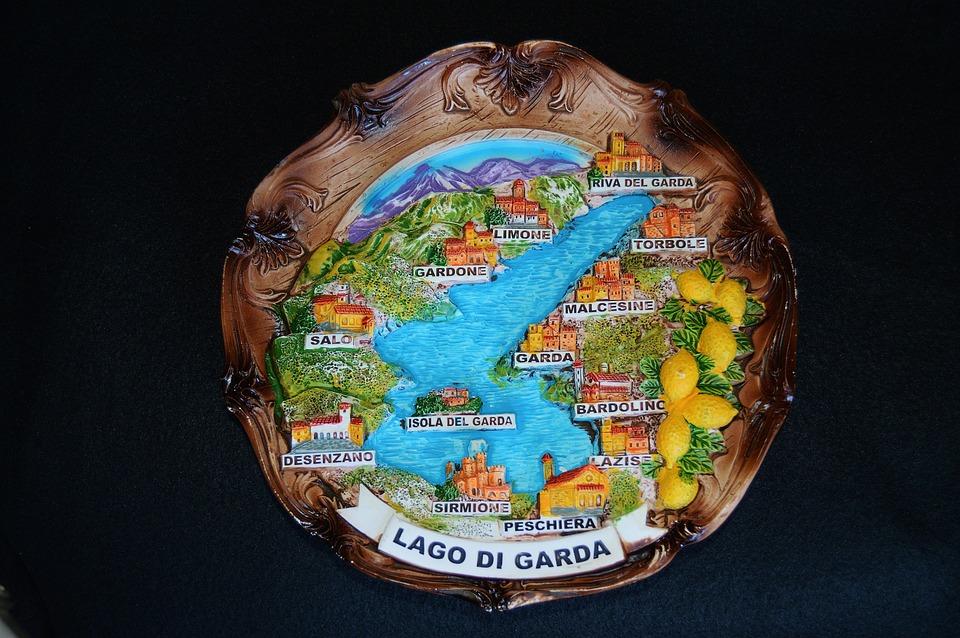 Souvenir, Italy, Garda, Wall Plate
