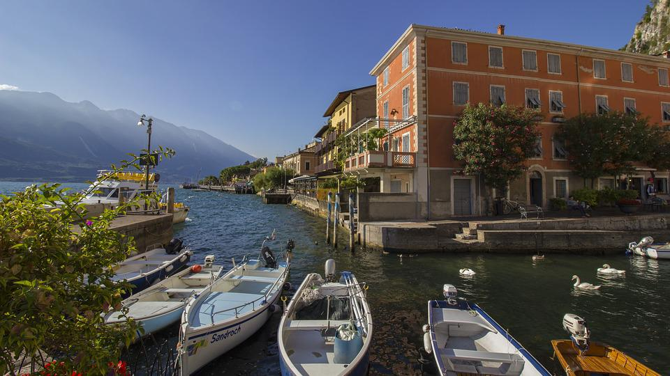 Limone, Garda, Italy, Port, Lake, West Bank, Place