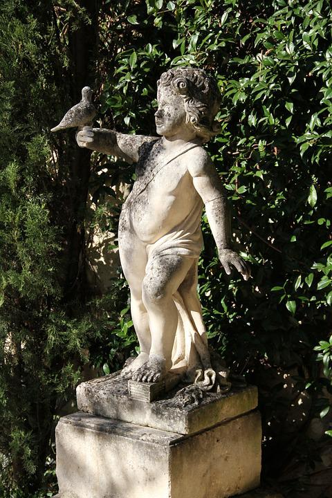 Sculpture, Garden, Ahmad, Antique