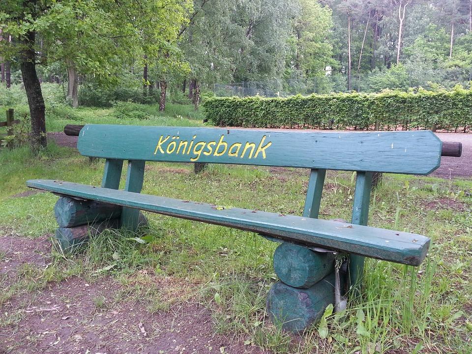 Garden Bench, Bank, Rest, Park, Sit, Garden, King Bank