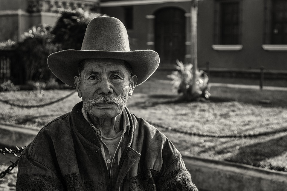 People, Guatemala, Man, Black And White, Garden