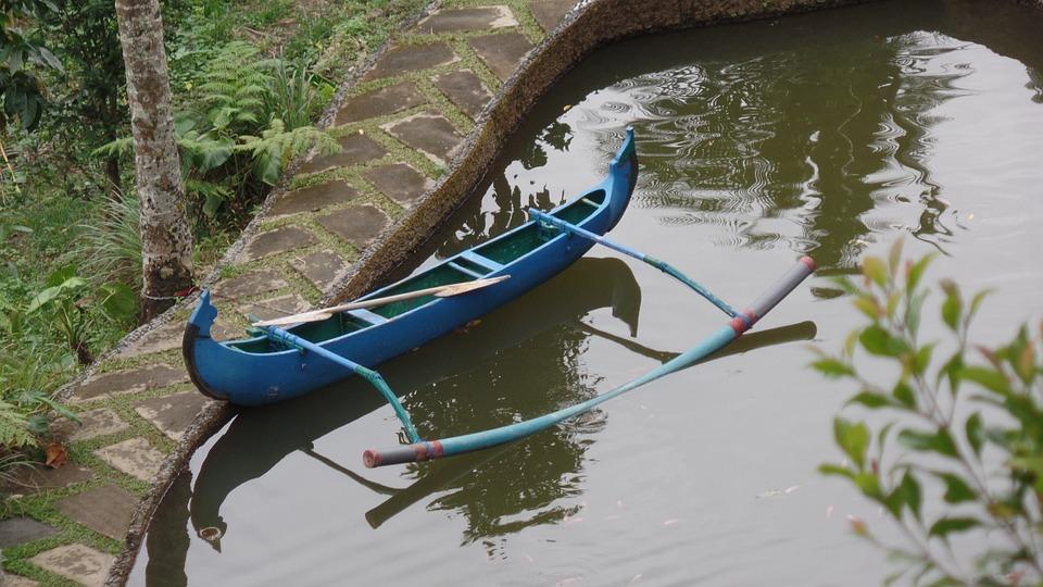 Boat, Pond, Garden