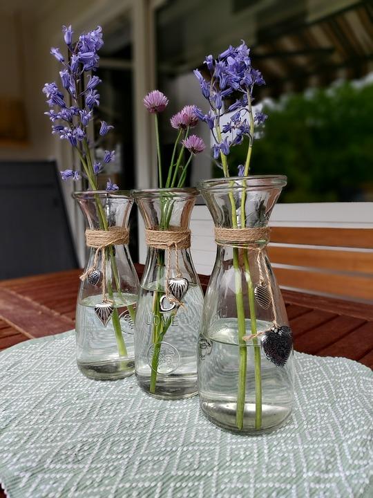 Garden, Terrace, Flowers, Vase, Bouquet
