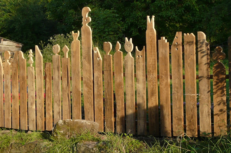 Garden Fence, Wood Fence, Paling, Demarcation