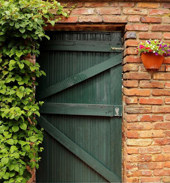 Door, Goal, Garden Gate, Old Door, Gate, Entwine