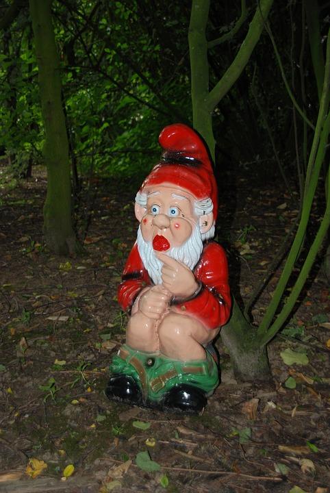 Gnome, Garden Gnome, Wc, Fairy Tale, Toilet, Forest