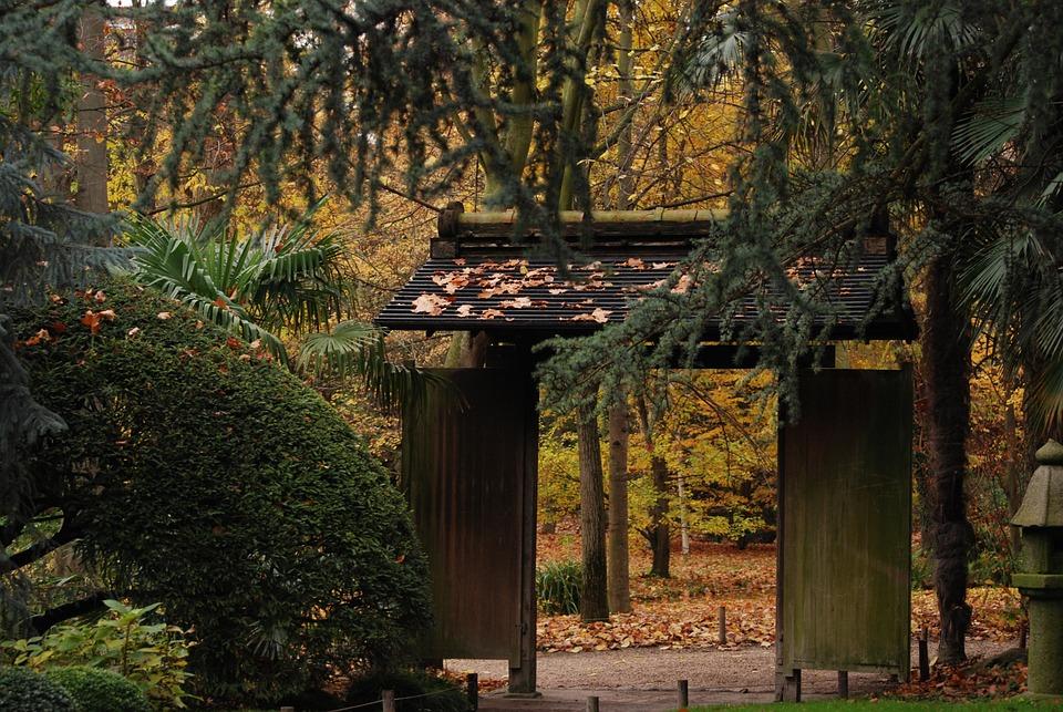 Door, Garden, Japan