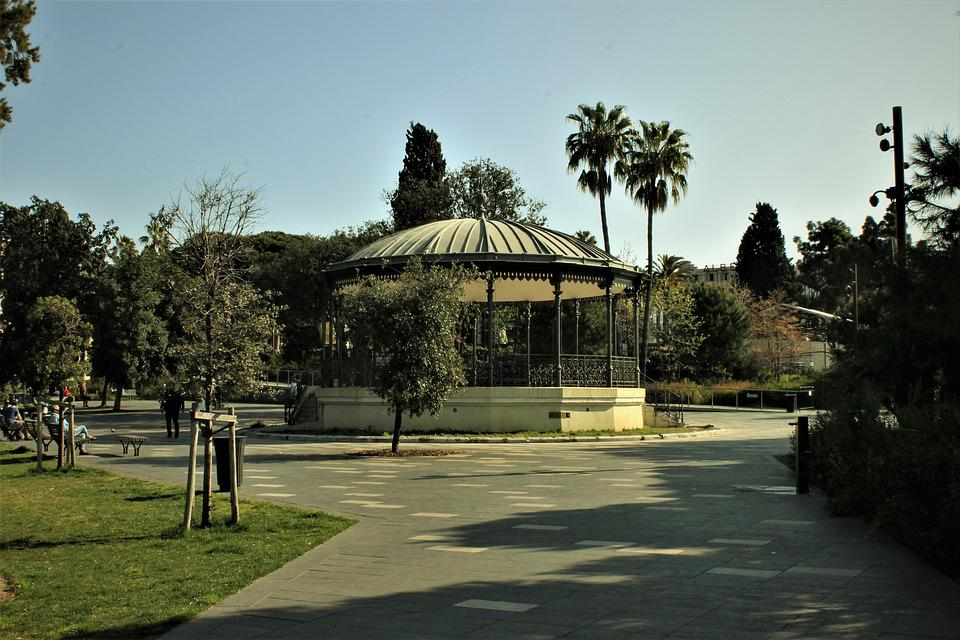 Park, Garden, Rotunda, Nice, Nice City, Nature, Plants