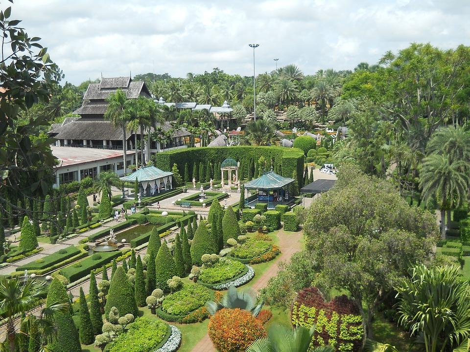 Park, Garden, Botanical, Nongnooch, Tropical, Thailand