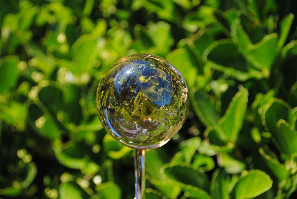Reflection In A Ball, Garden Of The Sambucs