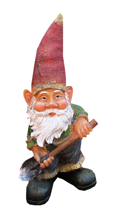 Gnome, Cut, Out, Isolated, Ornament, Garden, Statue