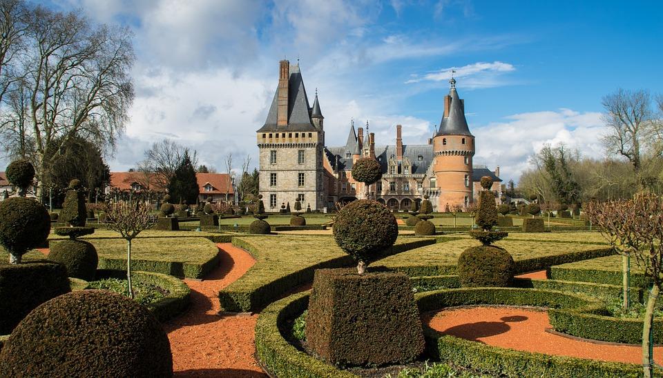 Architecture, Castle, Outdoor, Garden, French Garden