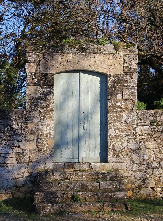 Door, Garden, Périgord, Entry, Architecture, Old, Park