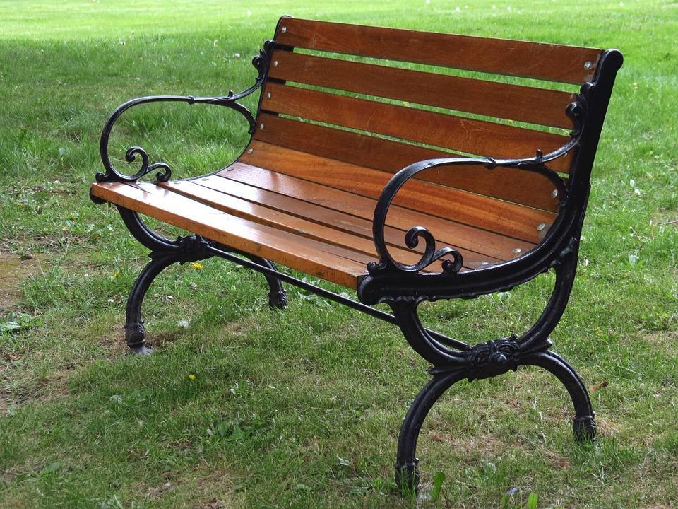 Garden Bench, Park, Empty, Outdoors, Garden, Park Bench