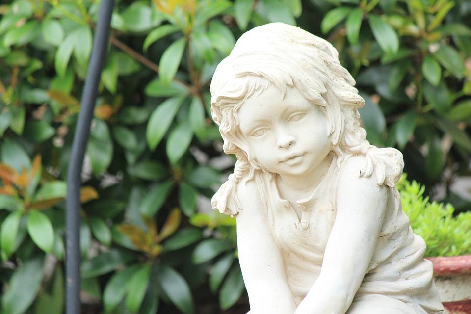 Girl, Angel, Nature, Child, Outdoors, Peaceful, Garden